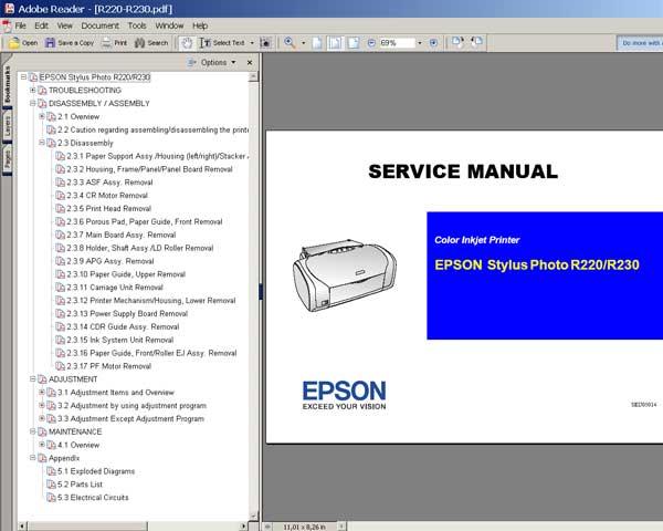 epson stylus photo r220 manual