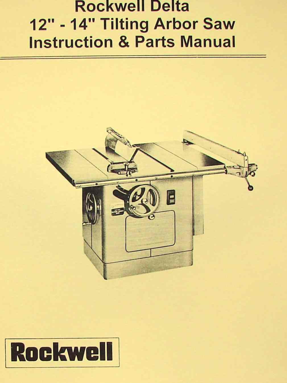 delta 10 table saw manual
