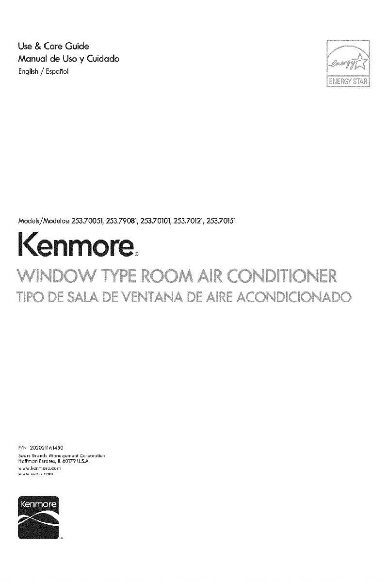kenmore elite air conditioner manual