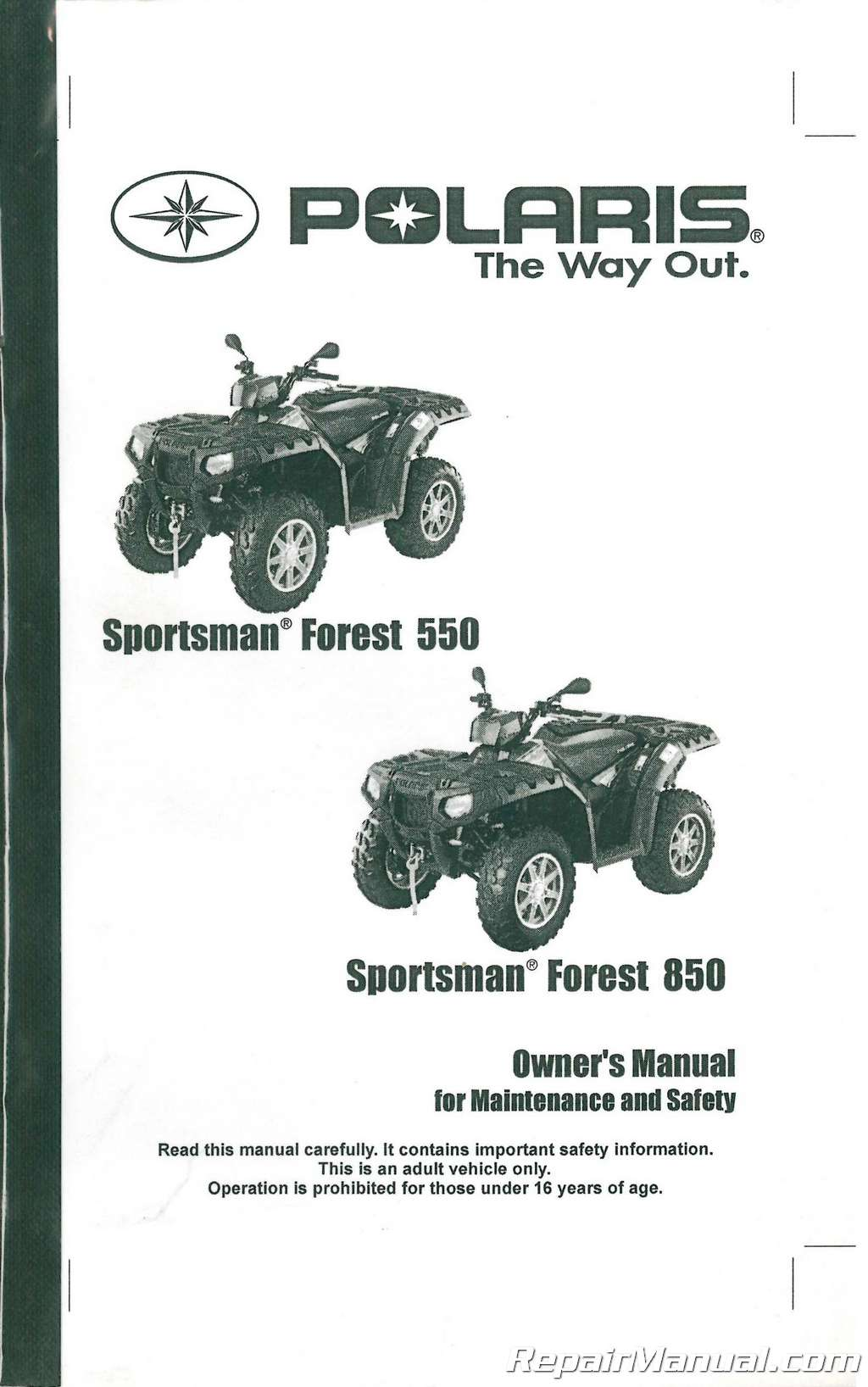 2011 polaris sportsman 550 service manual