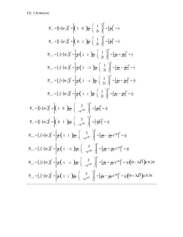 quantum mechanics mcintyre solutions manual pdf