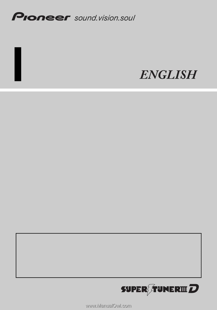 pioneer avic 8200nex operation manual