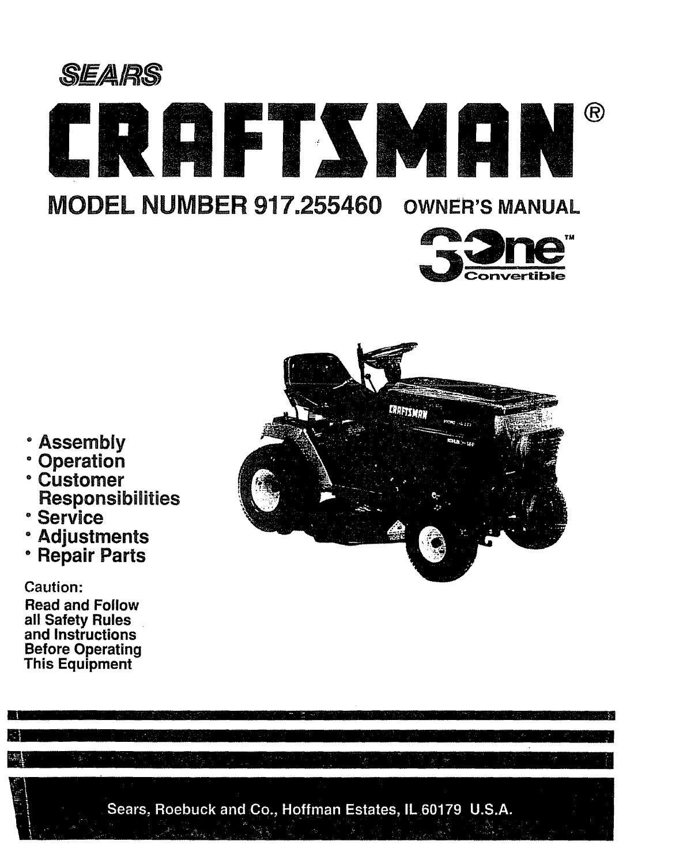 sears craftsman lawn mower repair manual