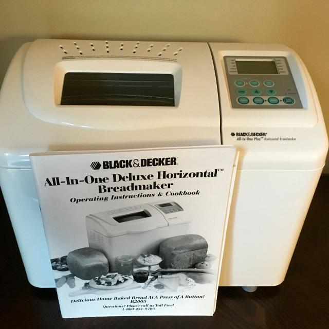black and decker all in one plus breadmaker manual