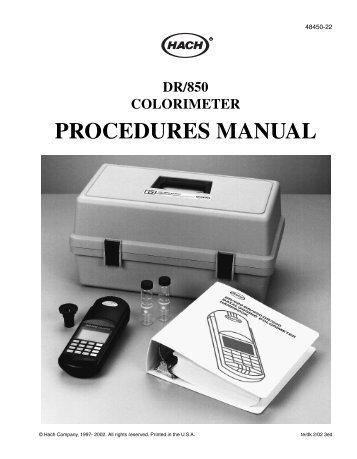 hach pocket colorimeter 2 manual