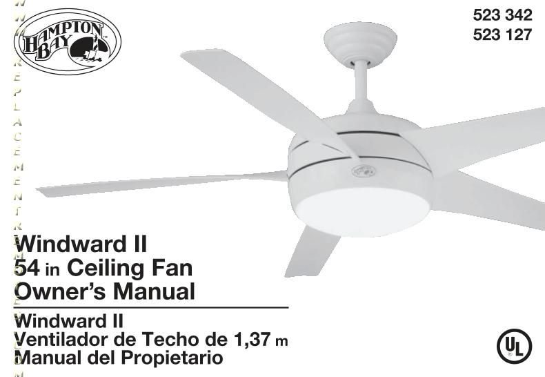 hampton bay ceiling fan model uc7083t manual