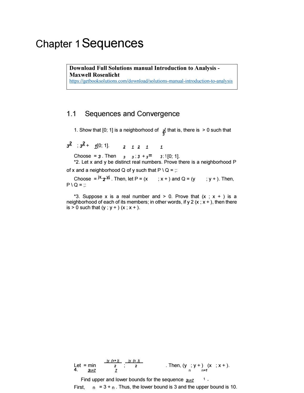 introduction to analysis maxwell rosenlicht solution manual