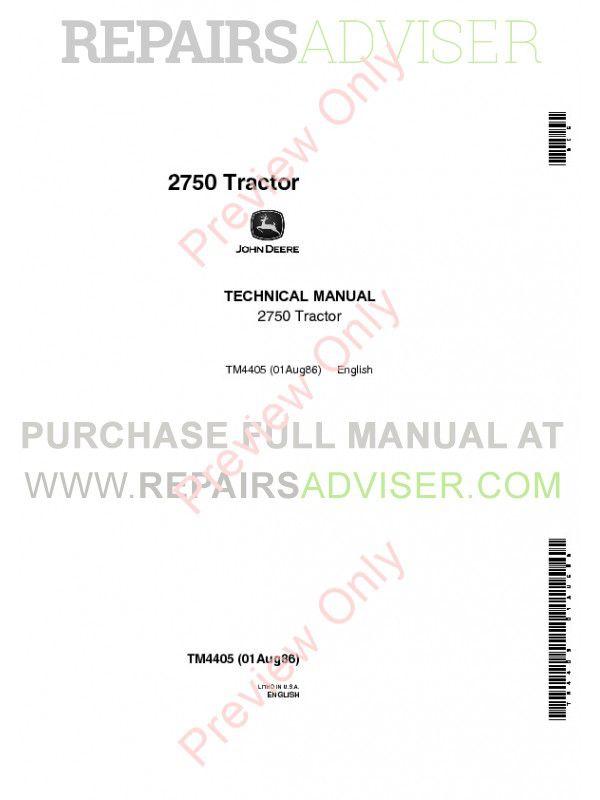 john deere 2750 service manual